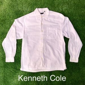 🚀Kenneth Cole Button Front Long-Sleeve Linen